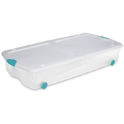 flat plastic storage containers
